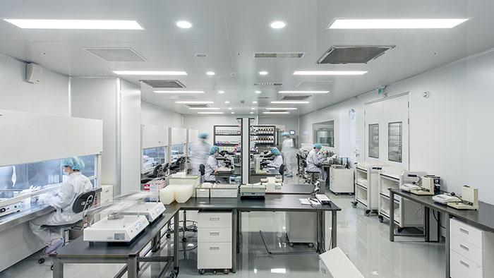 셀트리 투어 제대혈 가공 연구실